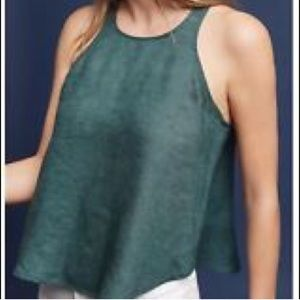NWT Anthropology Maeve Linen Swing Tank Top Size:L